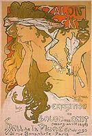 Salon des Cent 20 1896 - Alphonse Mucha reproduction oil painting