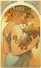 Fruit 1897 - Alphonse Mucha reproduction oil painting