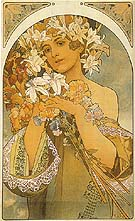 Flower 1897 - Alphonse Mucha reproduction oil painting