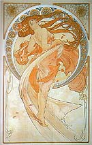 Dance 1898 - Alphonse Mucha reproduction oil painting