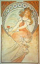 Painting 1898 - Alphonse Mucha reproduction oil painting