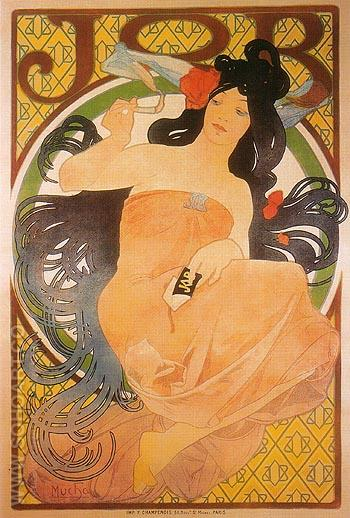 JOB 1898 - Alphonse Mucha reproduction oil painting