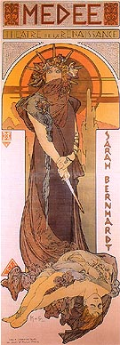 Medee 1896 - Alphonse Mucha reproduction oil painting
