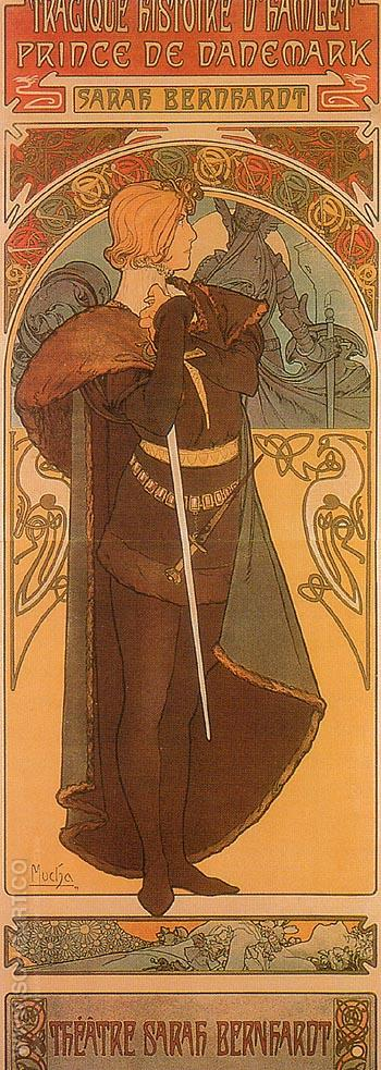 Hamlet 1899 - Alphonse Mucha reproduction oil painting