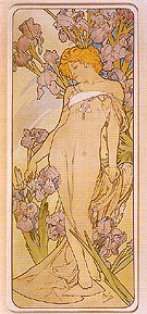 Iris 1898 - Alphonse Mucha reproduction oil painting