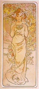 Rose 1898 - Alphonse Mucha reproduction oil painting