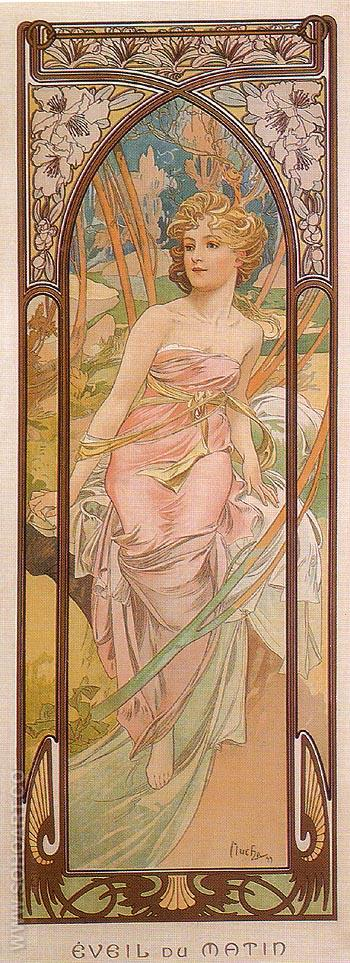 Awake in the Morning 1899 - Alphonse Mucha reproduction oil painting
