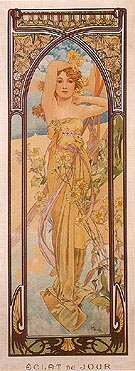 Daytime Dash 1899 - Alphonse Mucha reproduction oil painting