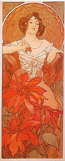 Ruby - Alphonse Mucha