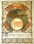 Amen - Alphonse Mucha reproduction oil painting