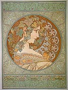 Ivy 1901 - Alphonse Mucha reproduction oil painting