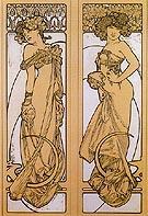 Tow Women Standing 1902 - Alphonse Mucha