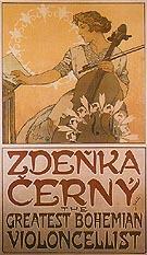 Zdenka Cerny The Greatest Bohemian Violoncellist 1913 - Alphonse Mucha