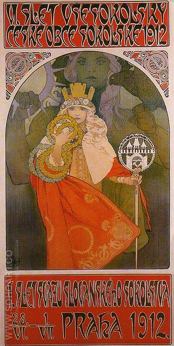 Sokol Festival 1912 - Alphonse Mucha reproduction oil painting