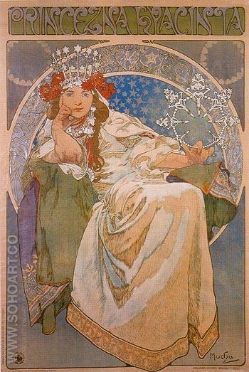 Princess Hyacinthe 1911 - Alphonse Mucha reproduction oil painting