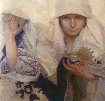 Destiny 1920 - Alphonse Mucha reproduction oil painting