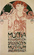 Drawing for a Poster Announcing the Mucha Exhibition at the brooklyn Museum 1921 - Alphonse Mucha
