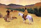 The Parley c 1903 - Frederic Remington reproduction oil painting