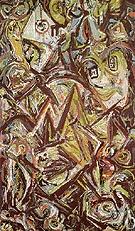 Troubled Queen 1945 - Jackson Pollock
