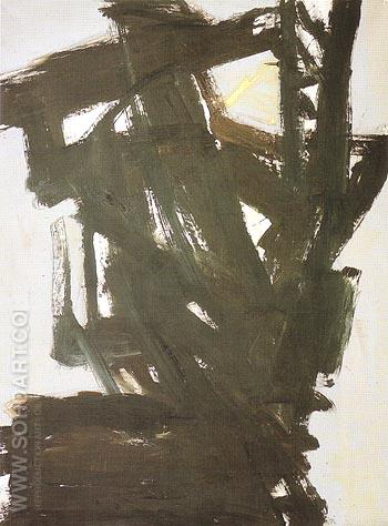 Probst 1 1960 - Franz Kline reproduction oil painting