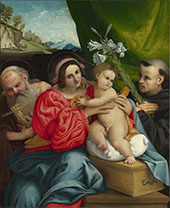 Virgin and Child with Saints Jerome and Anthony 1424 - Lorenzo Lotto reproduction oil painting