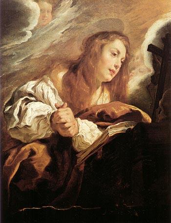 Saint Mary Magdalene Penitent 1615 - Domenico Fetti reproduction oil painting