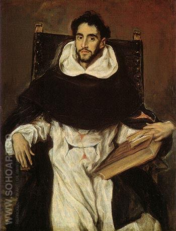 Fray Hortsensio Felix Paravincino 1609 - El Greco reproduction oil painting