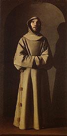 Saint Francis 1640 - Franciso De Zurbaran reproduction oil painting