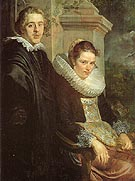 Portrait of a Young Married Couple 1615 - Jacob Jardaens reproduction oil painting