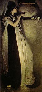 Isabella and the Pot of Basil 1897 - John White Alexander reproduction oil painting