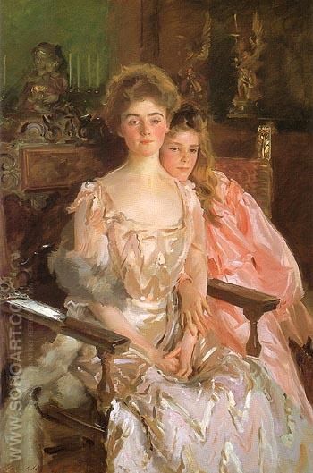 Mrs. Fiske Warren and her Daughter 1903 - John Singer Sargent reproduction oil painting