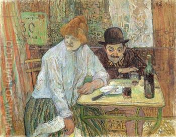 At the Cafe La Mie 1891 - Henri De Toulouse-lautrec reproduction oil painting