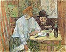 At the Cafe La Mie 1891 - Henri De Toulouse-lautrec
