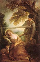 Haymaker and Sleeping Girl c1785 - Thomas Gainsborough reproduction oil painting