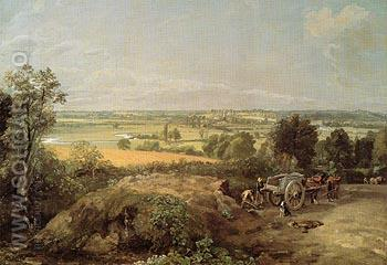 Stour Valley and Dedham Church 1814 - John Constable reproduction oil painting
