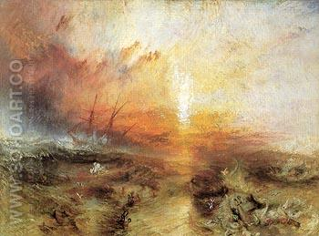 Slave Ship 1840 - Joseph Mallord William Turner reproduction oil painting
