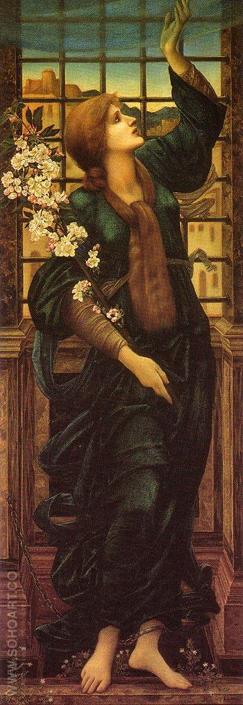 Hope c1896 - Edward Burne-Jones reproduction oil painting