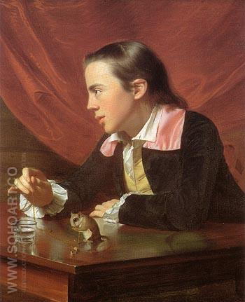 Henry Pelham Boy with a Squirrel 1765 - John Singleton Copley reproduction oil painting