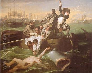 Watson and the Shark c1778 - John Singleton Copley reproduction oil painting
