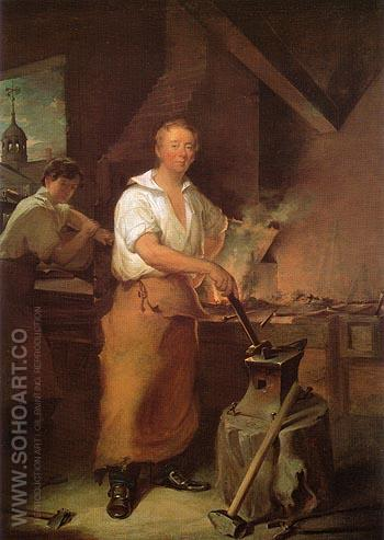 Pat Lyon at the Forge c 1826 - John Neagle reproduction oil painting