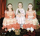 The Lincoln Children 1845 - Susan C Walters reproduction oil painting