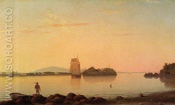 Owl's Head Penobscot Bay Maine 1862 - Fitz Hugh Lane reproduction oil painting