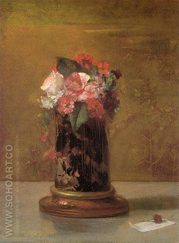 Vase of Flowers 1864 - John La Farge reproduction oil painting
