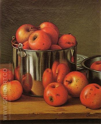 Apples in a Tin Pail 1892 - Levi Wells Prentice reproduction oil painting