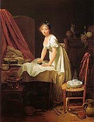 Young Woman Ironing c1800 - Louis Boilly reproduction oil painting