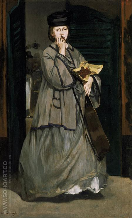 Street Singer c1862 - Edouard Manet reproduction oil painting