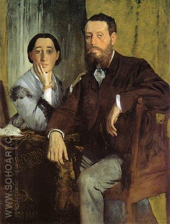 Edmondo and Therese Morbilli 1867 - Edgar Degas reproduction oil painting