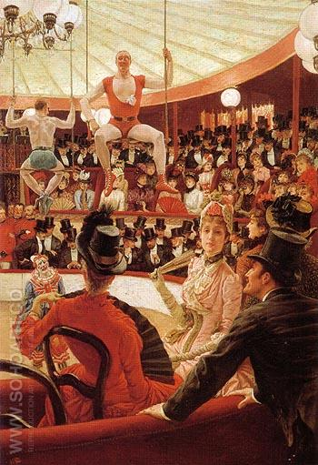 Women of Paris The Circus Lover c1883 - James Tissot reproduction oil painting