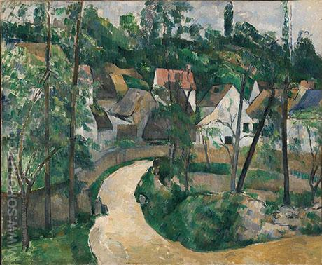 Turn in the Road - Paul Cezanne reproduction oil painting