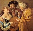 The Procuress 1672 - Dirk Van Baburen reproduction oil painting